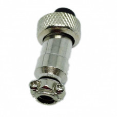 Microphone Connector Plug, 8 Pin 12MM Thread Female Socket Panel Metal Wire Connector 5A