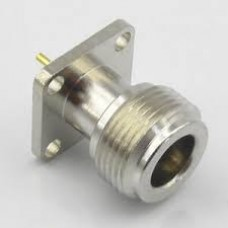 Connector N Female Jack 4-Hole 25mm Flange Solder Panel Mount