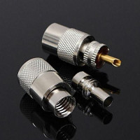 PL259 UHF Male Twist-On PL-259 Connector for RG213 with reducer for RG58 (Teflon Insulator)