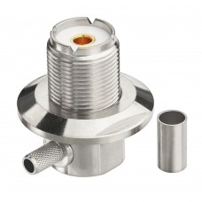 Connector SO239 Right Angle Crimp for LMR 200, RG58, LMR 200