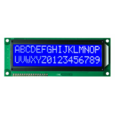 16 x 2 LCD with Blue Backlight (1602)